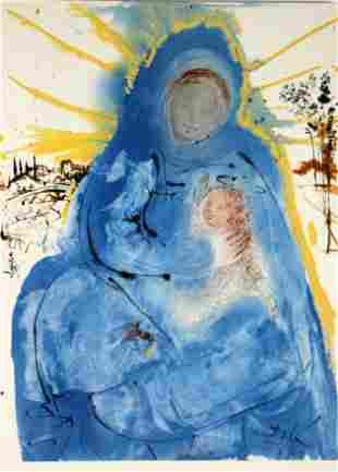 Salvador Dali - Mary Gathering Within Her Heart