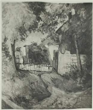 Paul Cezanne (after) - La Chauniere dans les arbres.