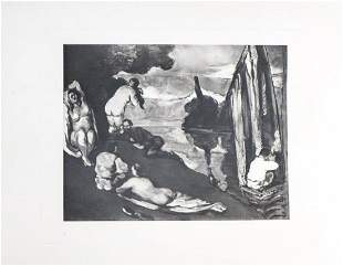 Paul Cezanne (after) - Scene de plein air