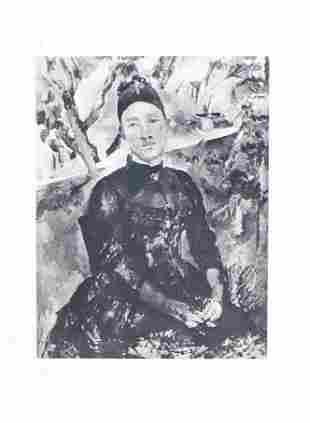 Paul Cezanne (after) - Portrait de Madame Cezanne dans