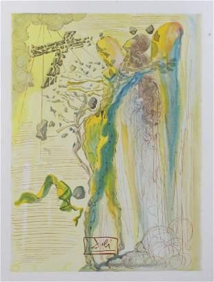 Salvador Dali - The Apparition of Dante's