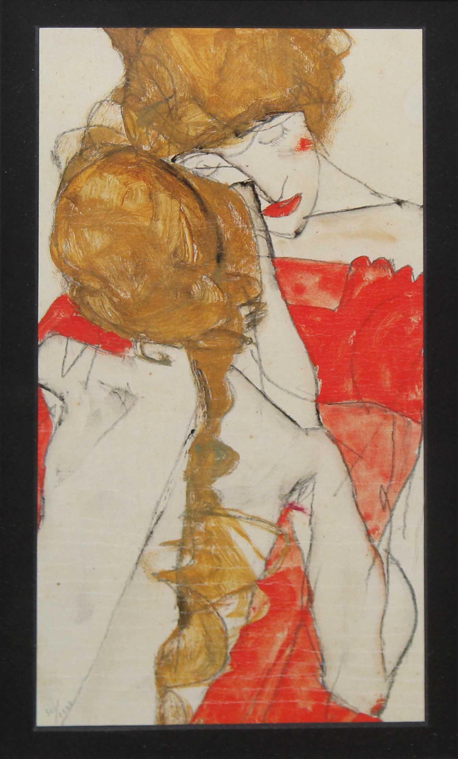 Egon Schiele (After) - Mutter und Tochter