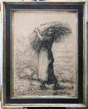 Jean-Francois Millet (After) - Woman Carrying Wheat