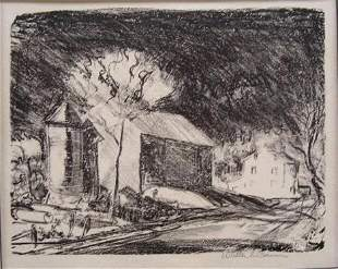 Walter Emerison Baum - Untitled (Road in Pennsylvania)