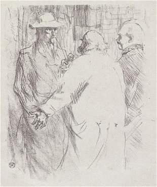 Henri de Toulouse-Lautrec - Two Men Talking