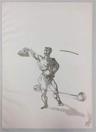 Henri Toulouse-Lautrec - Travail des Poids (1908)