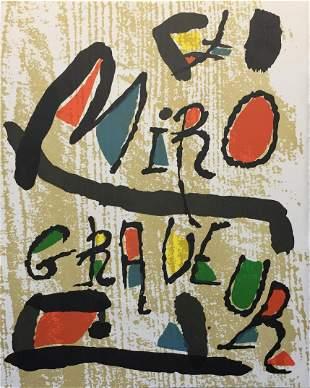 Joan Miro - Graveur Cover