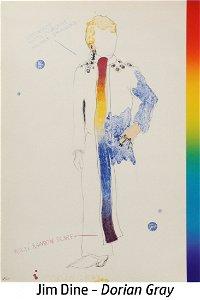 Jim Dine - Dorian Gray in Multi Rainbow Scarf