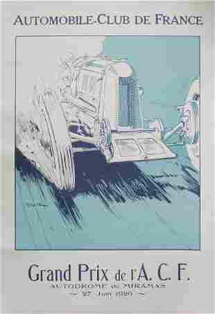 Georges Hamel - Grand Prix Vintage Poster