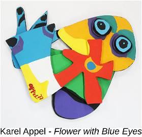 Karel Appel - Flower with Blue Eyes