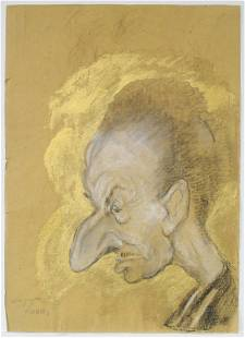 Georges Henri Manzana Pissarro - Untitled (Scowling