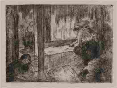 Edgar Degas - Les Blachisseuses