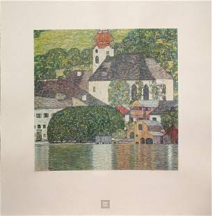 Gustav Klimt (After) - Kirche am Woldgangsee