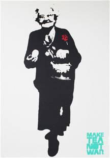 BAMBI Street Artist - Make Tea Not War