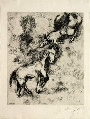 Marc Chagall - The Horse and the Donkey