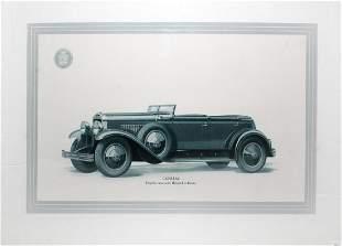 Vintage Car Poster - Original Cadillac Showroom Ad
