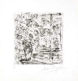 Marc Chagall - La fenetre de l'atelier a Saint-Paul
