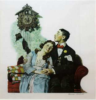 Norman Rockwell - Courting Couple at Midnight