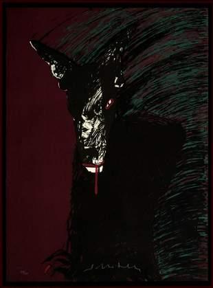 Fritz Scholder - Portrait of a Werewolf
