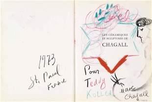 Marc Chagall - Peintrea la palette pour Teddy Kollek