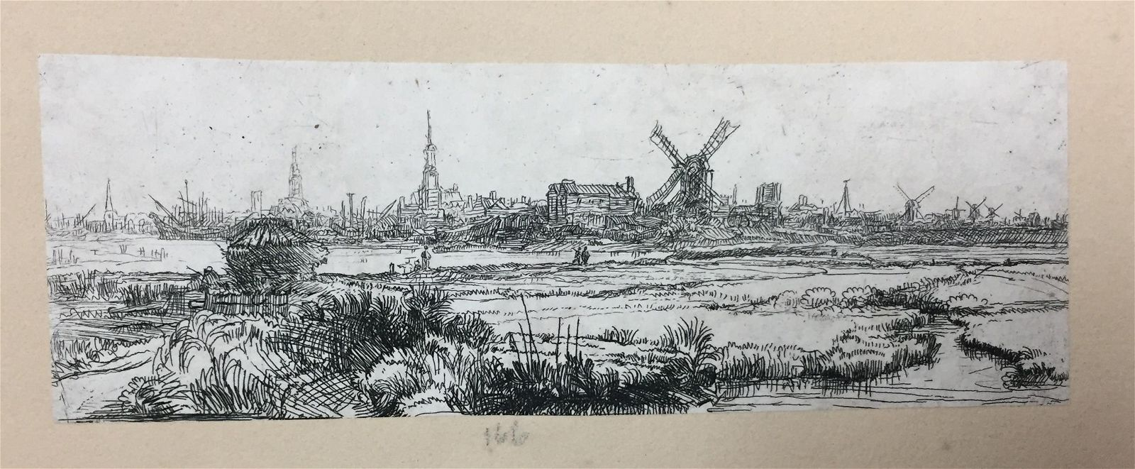 Rembrandt van Rijn - A View of Amsterdam