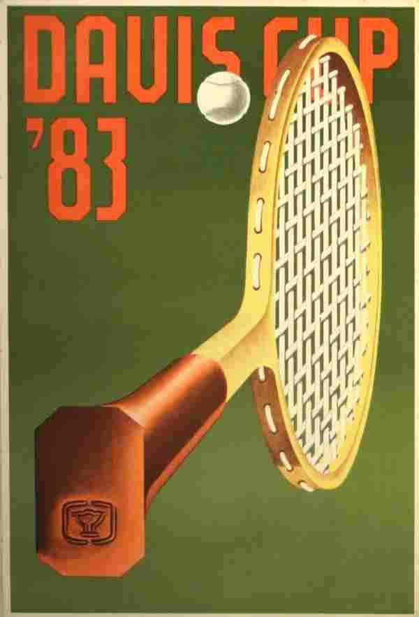 Konrad Klapheck - Davis Cup 1983 (Vintage Poster)