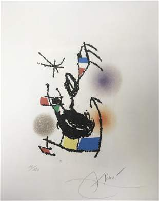 Joan Miro - Dans la Luer Oblique
