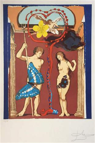 Salvador Dali - Lovers Adam and Eve