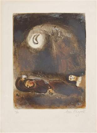 Marc Chagall - Ruth at the Foot of Boaz