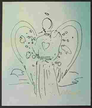 Peter Max - Angel with a Heart