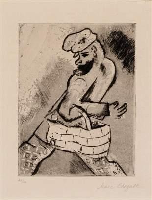 Marc Chagall - Der Mann mit dem Korb