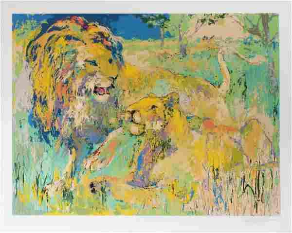 Leroy Neiman - Lion Couple