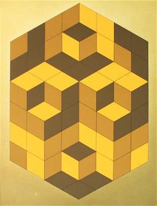 Victor Vasarely - Microcosmos (Gold)