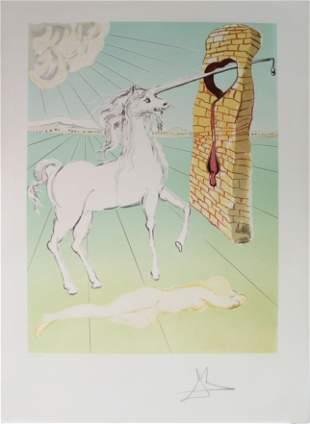 Salvador Dali - The Agony of Love (The Unicorn)