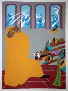 Jacob Lawrence - And God brought forth the firmament