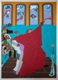 Jacob Lawrence - And God created all the fowls of the