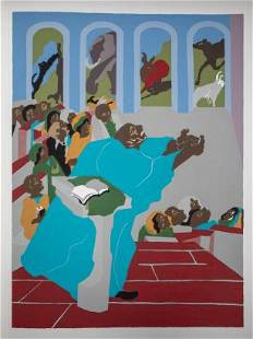 Jacob Lawrence - And God created all the beasts of the