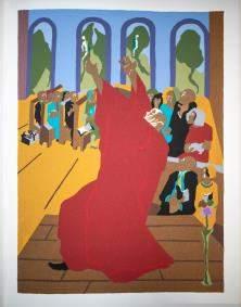 Jacob Lawrence - And God created man and woman.