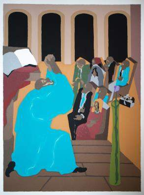 Jacob Lawrence - In the beginning all was void.