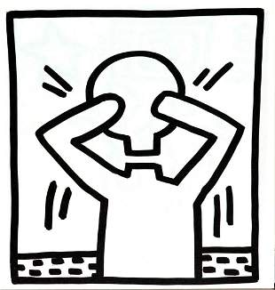 Keith Haring - Untitled (Head Off)