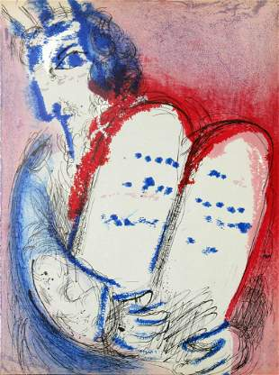 Marc Chagall - Moses with the Tables of the Law