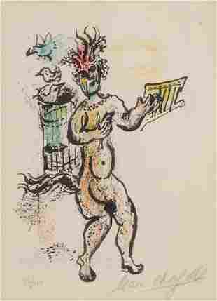 Marc Chagall - Plate 8 from La Feerie et le