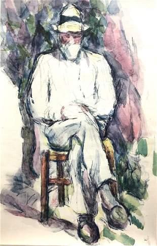 Paul Cezanne (After) - Portrait de Vallier