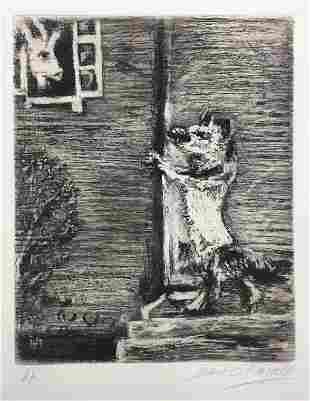 Marc Chagall - The Wolf The Goat and The Kid