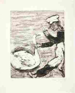Marc Chagall - Le Cygne et le Cuisinier