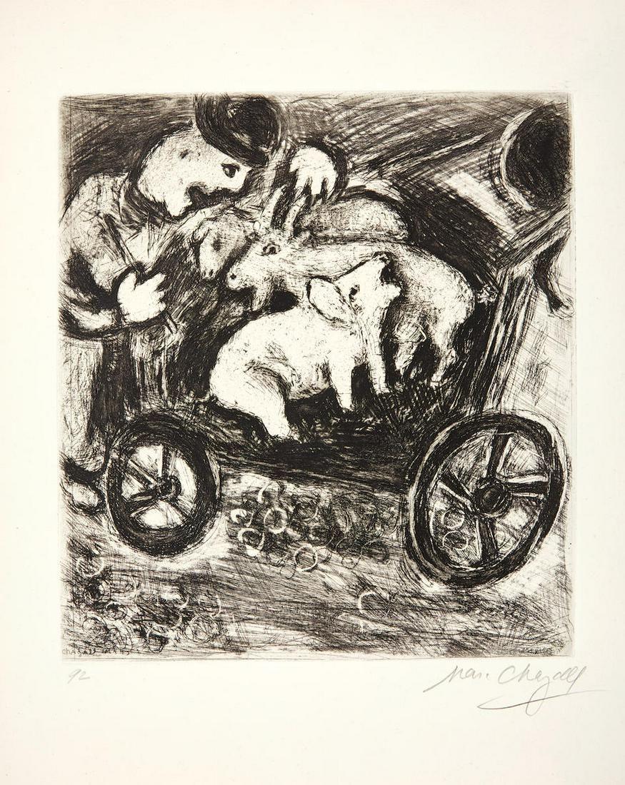 Marc Chagall - Le Berger et son Troupeau