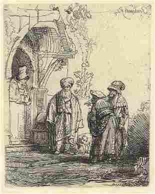 Rembrandt van Rijn - Three Oriental Figures (Jacob and