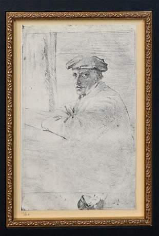 Edgar Degas (after) - Portrait of the Engraver Joseph