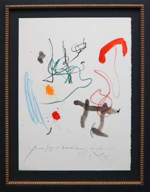Joan Miro - Untitled IV from Quelques Fleurs...
