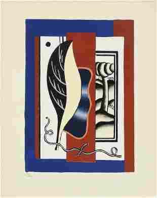 Fernand Leger - La Feuille Jaune